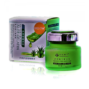 Cream for face care with gelatin and extract of aloe vera Belove, 50 grams.