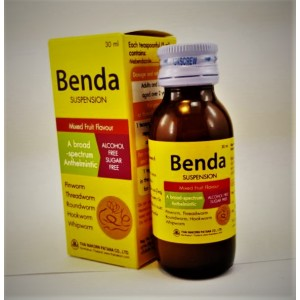Benda syrup (mebendazole) for the treatment of helminthic invasions, 30 ml.