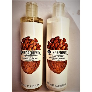 Shampoo and conditioner for care of different types of hair BOOTS, 300 ml.