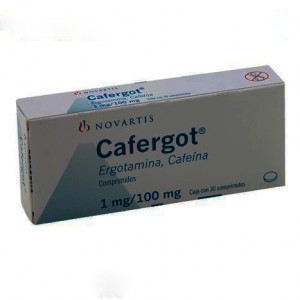 Tablets from the headache Cafergot, 10 tablets.