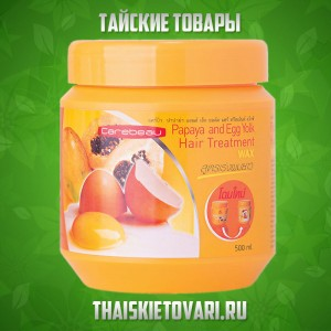 Hair mask with papaya extract and egg Carebeau, 500 ml.