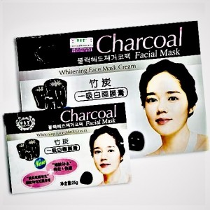 Tissue mask with coal to reduce the pore size and skin fat content BELOVE, 38 ml.
