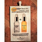 Anti-aging facial serum with collagen and vitamin C, 8 grams.