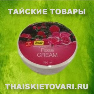 Body cream with extract of red roses BANNA, 250 ml.