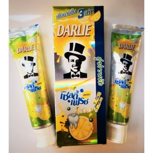 Toothpaste DARLIE Lemon and Mint, 2 tubes of 140 grams.
