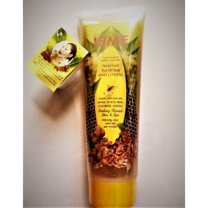Rejuvenating face mask with antibacterial properties Honey and Curcuma ISME, 100 ml.