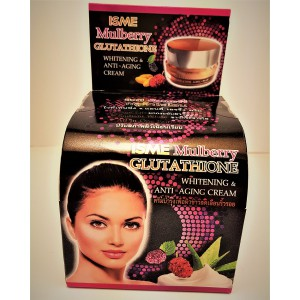 Anti-aging face cream ISME with mulberry extract and glutathione, 10 grams.
