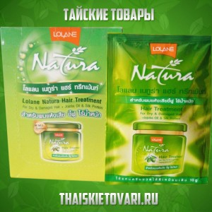 Hair mask with jojoba oil and silk proteins Natura Lolane, 120 gr.
