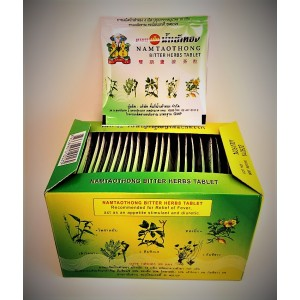 Tablets with herbal medicinal extracts to relieve the symptoms of colds and edema, 4 tablets.