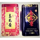 Green tea Fujian Oolong Tea in a metal container, 100 grams.