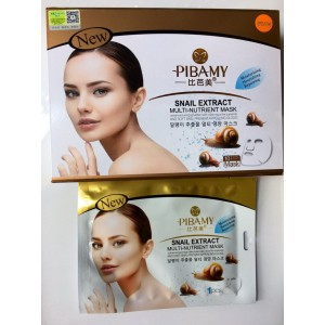 Anti-aging tissue mask with a filtrate of mucus grape snails from the brand PIBAMY, 48 grams