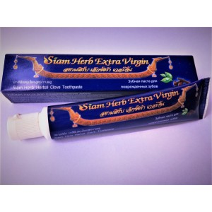 Toothpaste Siam Herb Herbal Clove Toothpaste for sensitive teeth, 40 grams.