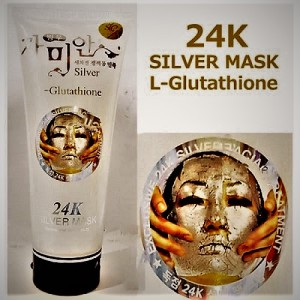 Rejuvenating facial mask for face with colloidal silver and glutathione, 220 ml.