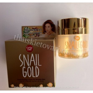 Anti-aging face cream with snail CATHY DOLL SNAIL GOLD, 50 grams.