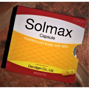Solmax cough medicine with mucolytic action, 10 tablets.
