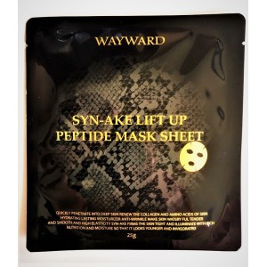 Rejuvenating tissue mask for face with Syn-Ake peptide, 25 grams.