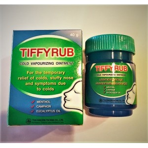 Thai ointment for the treatment of colds TIFFYRUB.