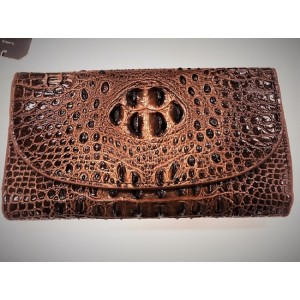 Women's wallet made of natural crocodile skin SIAM SNAKE FARM International.