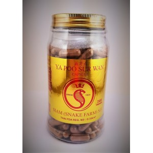 Snake capsules for the treatment of pathologies of the genitourinary system Ya Poo Sur Wan, 500 capsules.